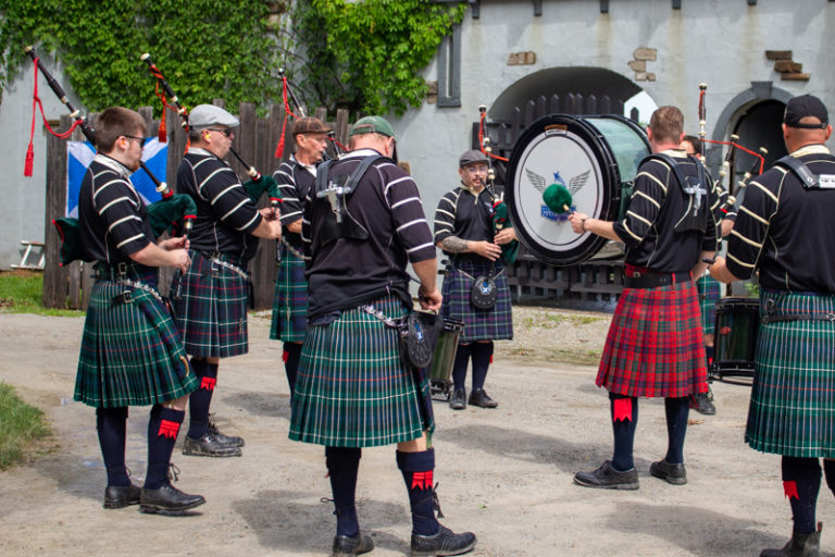 Miami Valley Pipes and Drums Front Gate Performance