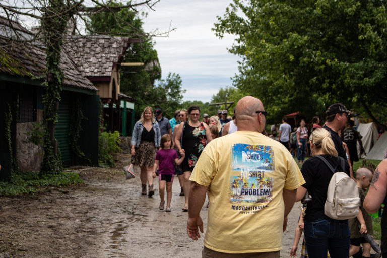 Mud can't stand between faire-goers and a festival day