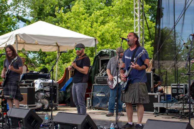Bearded Bastard Irishmen entertain the crowds at the main stage