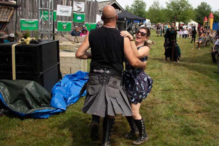 Dancing with men in kilts