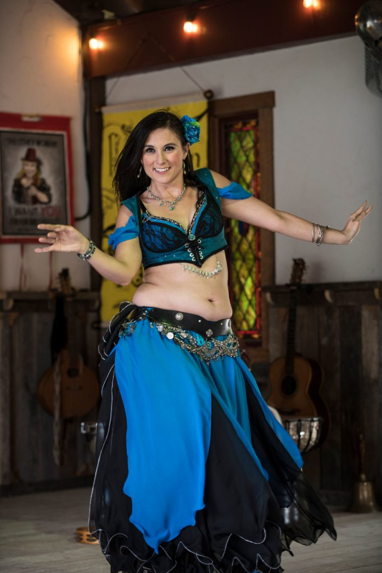 Belly dancers are just one of the variety acts in the Aleing Knight Pub.