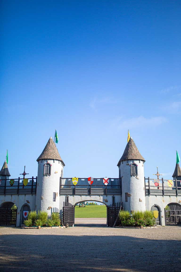 Throw wide the gates! Our massive gate welcomes you to pass through and experience a full day of 16th Century fun.