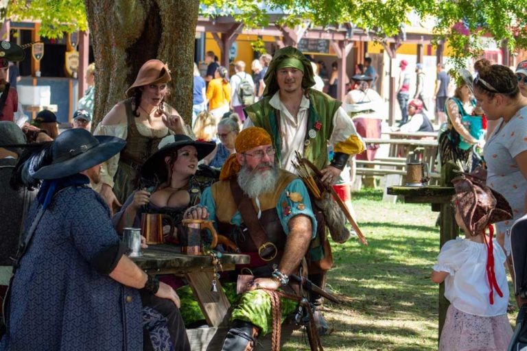 The Bewildered Banshee Crew greets a prospective pirate lass!